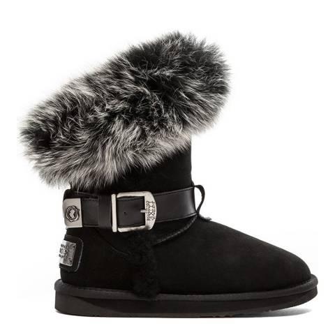 Australia Luxe Collective Black Suede Tsar Short Boots