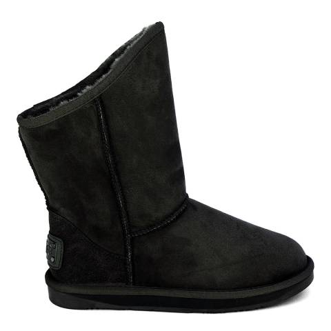 Australia Luxe Collective Black Suede Cosy Short Boots