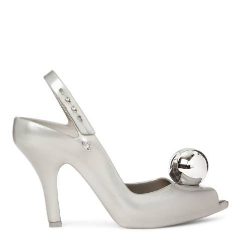 Vivienne Westwood for Melissa Silver Lady Dragon Globe Heels