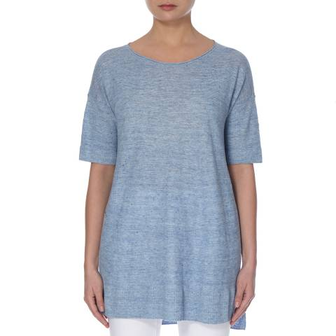 EILEEN FISHER Sky Bateau Linen Box Top