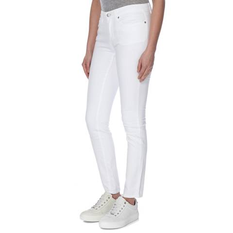 EILEEN FISHER White Cotton Stretch Skinny Jeans