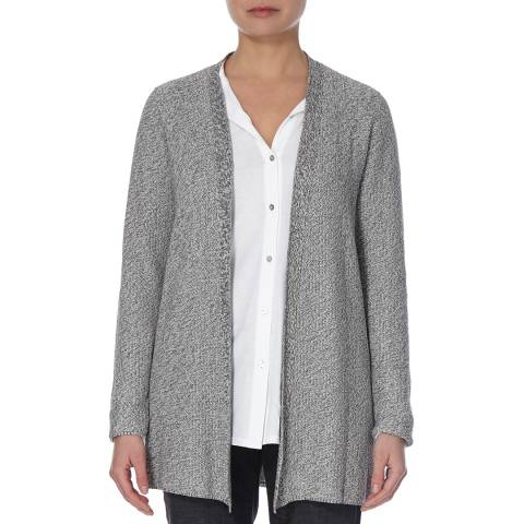 EILEEN FISHER Silver Simple Two Tone Cardigan
