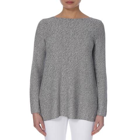 EILEEN FISHER Silver Simple Two Tone Jumper