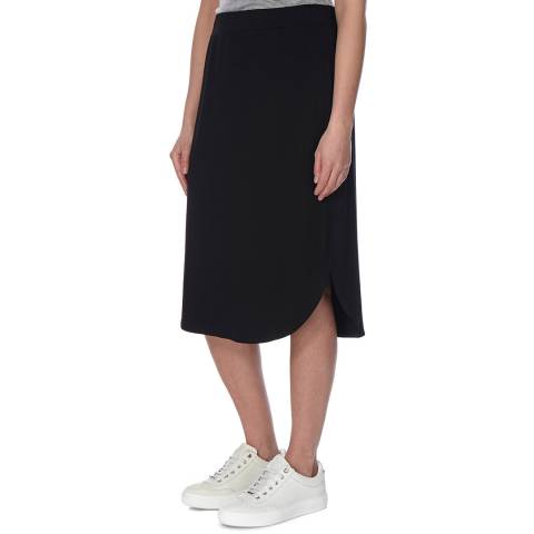EILEEN FISHER Black Midi Jersey Knit Skirt