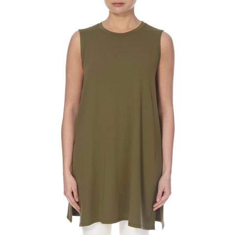 EILEEN FISHER Olive Sleeveless Jersey Tunic