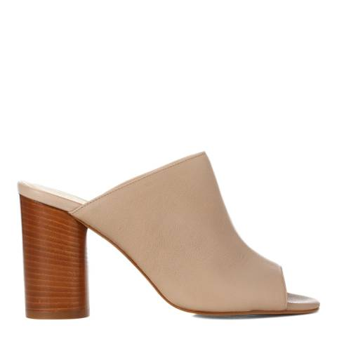 L K Bennett Beige Leather Osaba Mule Sandals