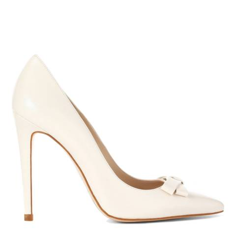 L K Bennett Pearlescent Leather Bow Front Oflora Courts