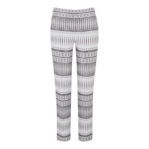 Amanda Wakeley White/Multi Tapis Jacquard Trousers