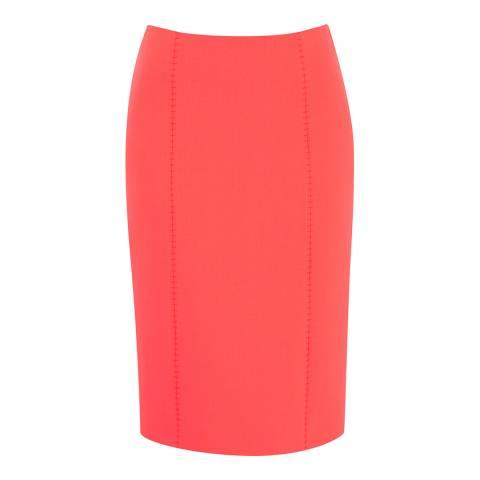 Amanda Wakeley Bright Orange Horizon Sculpted Cotton Blend Skirt