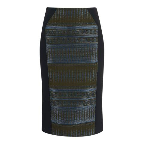 Amanda Wakeley Midnight/Multi Tapis Jacquard Skirt