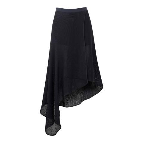 Amanda Wakeley Midnight Wrap Mesh Skirt