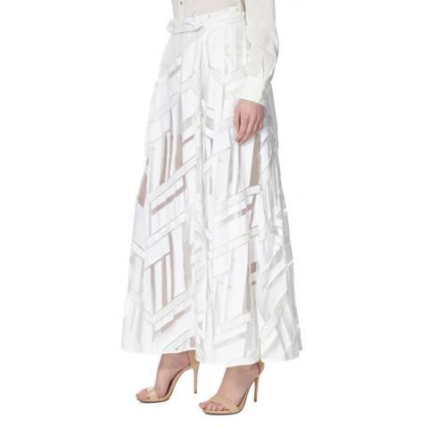 Amanda Wakeley Jacquard Skirt Organza Jacquard White Size 12