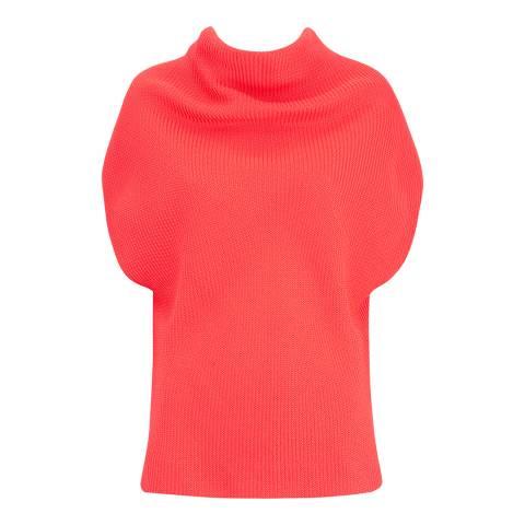 Amanda Wakeley Bright Orange Eclipse Weave Cotton Blend Top