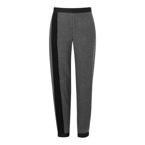 Amanda Wakeley Charcoal Klara Tailored Wool/Cotton Sweatpants