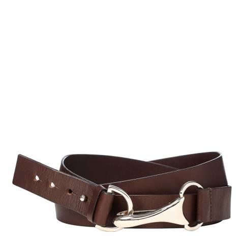 Amanda Wakeley Wrap Clip Belt Belts Chocolate Small