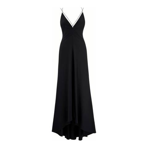 Amanda Wakeley Black Silk/Satin Air Strappy Dress