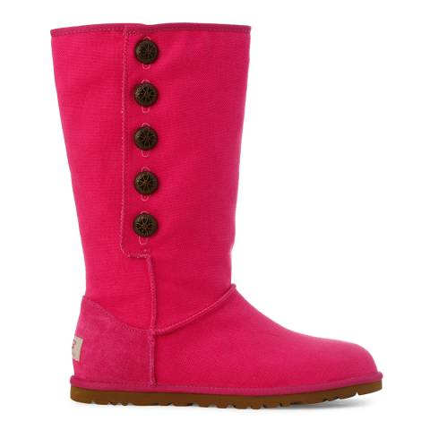 UGG Pink Canvas Lo Pro Marrakech Boots