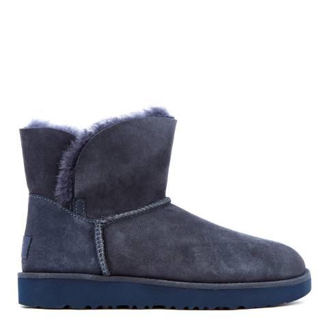 UGG Imperial Blue Suede Classic Cuff Mini Boots