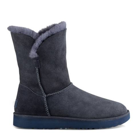 UGG Imperial Blue Suede Classic Cuff Short Boots