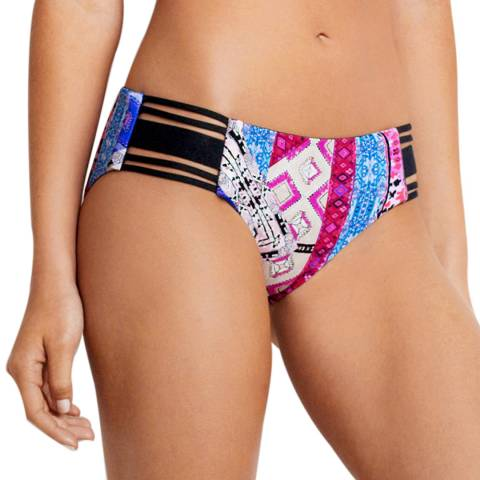 Seafolly Blueberry Moon Dance Elastic Wide Side Hipster Briefs Briefs