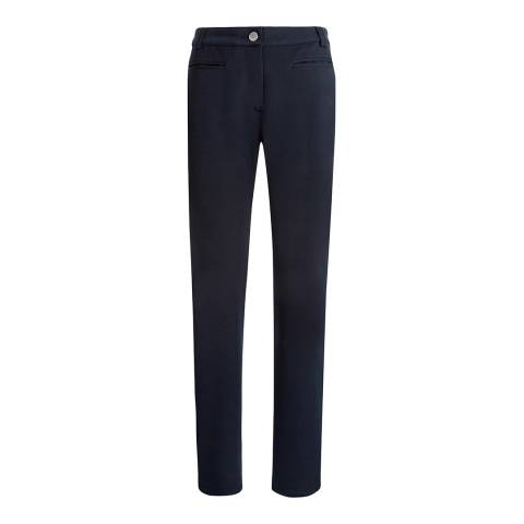 Jaeger Navy Jetted Pocket Trouser