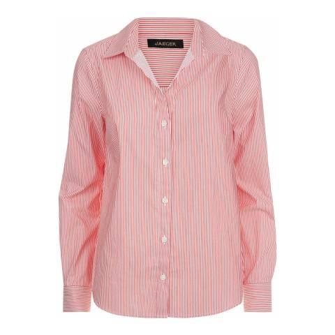 Jaeger Red Fine Stripe Shirt