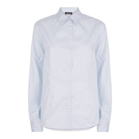 Jaeger Blue/White Bold Stripe Shirt