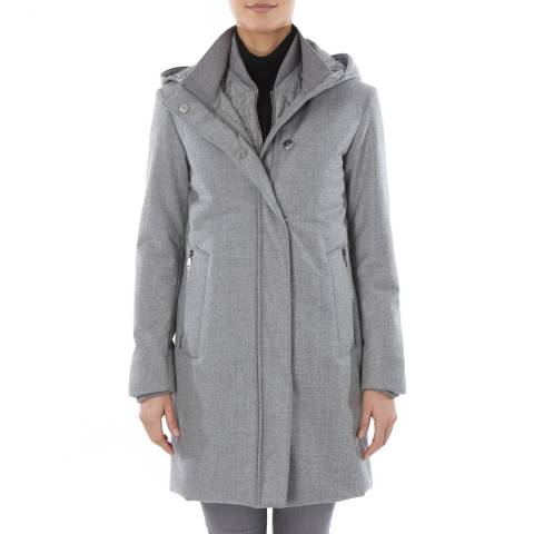 Tricouni Steel Grey Virgin Wool/Cashmere Parka