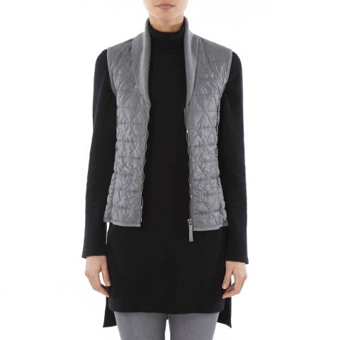 Tricouni Steel Grey Single Breasted Shawl Gilet