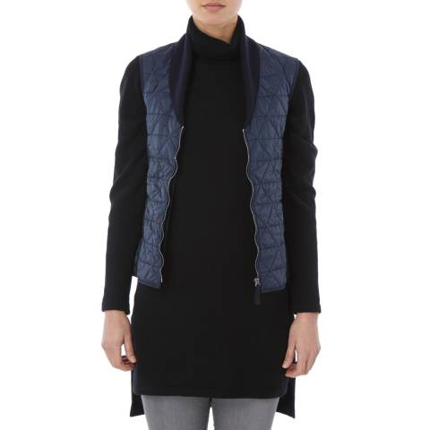 Tricouni Navy Single Breasted Shawl Gilet