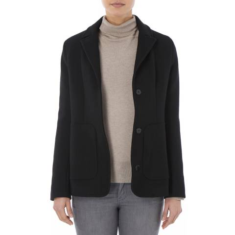 Tricouni Black Sculpted Virgin Wool Jacket