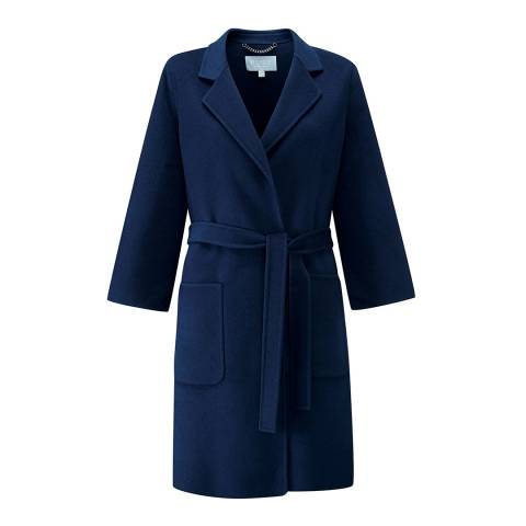 Pure Collection French Navy Easy Double Faced Coat