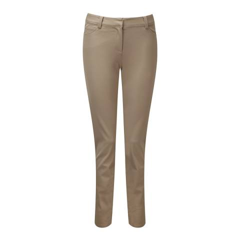 Pure Collection Beige Stretch Straight Leg Cotton Stretch Jeans