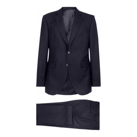 Jaeger Navy Regular Melange Weave Suit