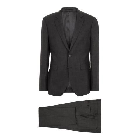 Jaeger Charcoal Slim Micro Texture Wool Suit