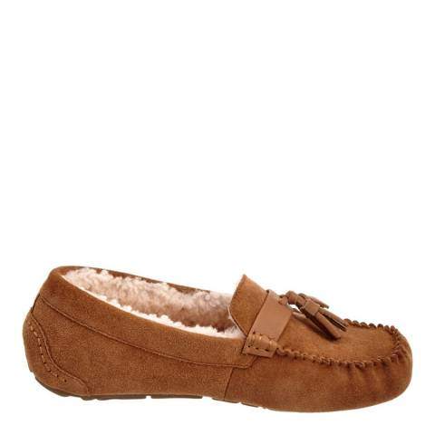 Australia Luxe Collective Chestnut Suede Patrese Slippers
