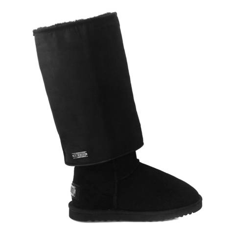 Australia Luxe Collective Black Suede Slouch X Tall Boots