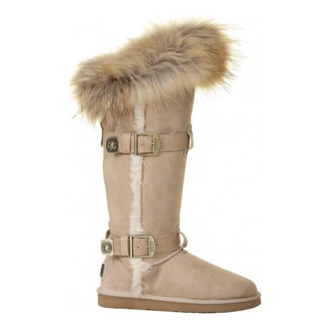 Australia Luxe Collective Sand Suede Tsar Tall Boots