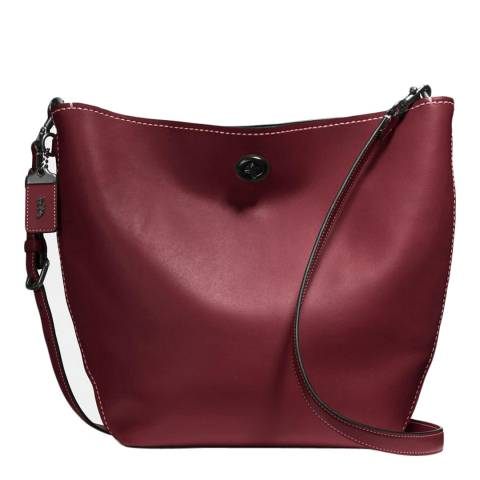 Coach Bordeaux Glovetanned Leather Duffle Shoulder Bag