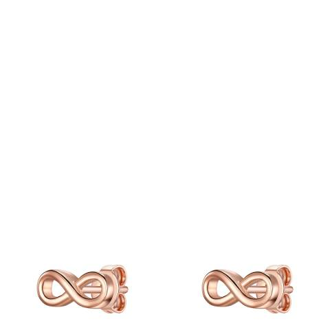 Carat 1934 Rose Gold Infinity Earrings