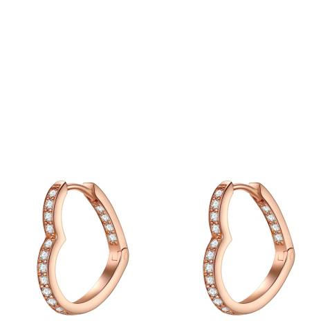 Carat 1934 Rose Gold Heart Hoop Earrings