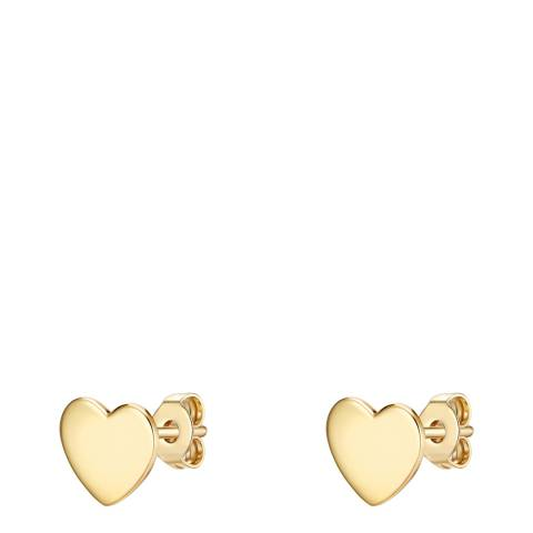 Carat 1934 Gold Heart Earrings