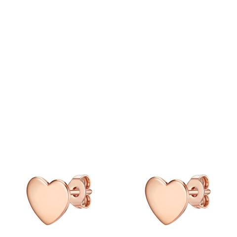 Carat 1934 Rose Gold Heart Earrings