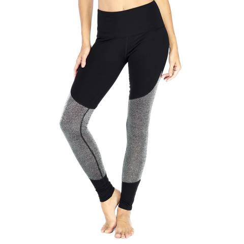 Electric Yoga Black/Silver Meshy Leggings