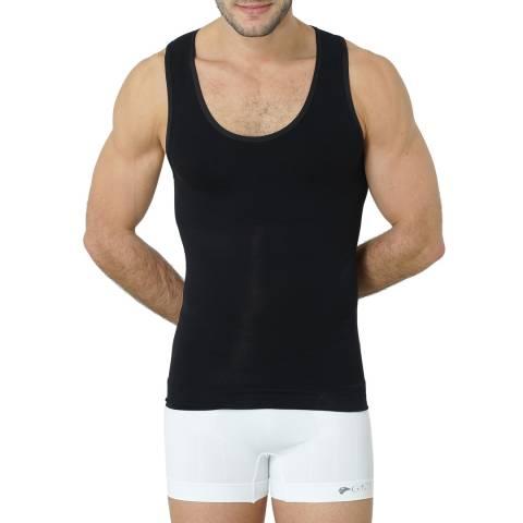 Formeasy Men's Black Sleeveless Singlet Top