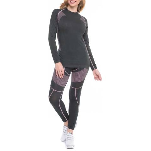 Formeasy Black Seamless Thermal Internal Long-sleeve Top & Leggings