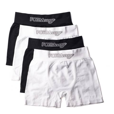 Formeasy Men's Black/White Pack x4 Boxers