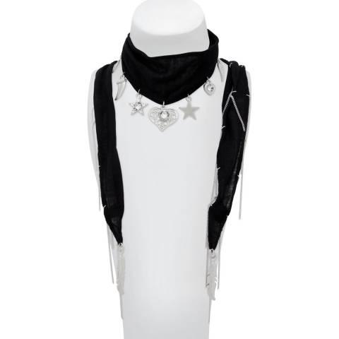BiBi Bijoux Black/Silver Charm Scarf