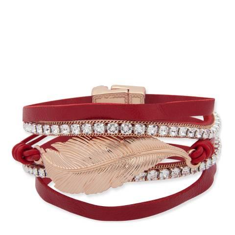 BiBi Bijoux Red/Gold Suede Wrap Bracelet