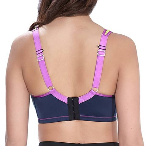 ea4c3450f2e23 Navy Freya Active Underwired Moulded Sports Bra - BrandAlley